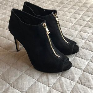 Ann Taylor Heeled Booties with Zipper